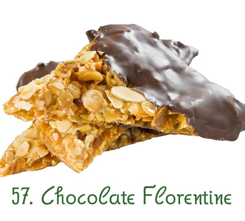 57. Chocolate Florentine