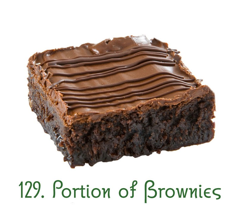 129. Portion of Brownies
