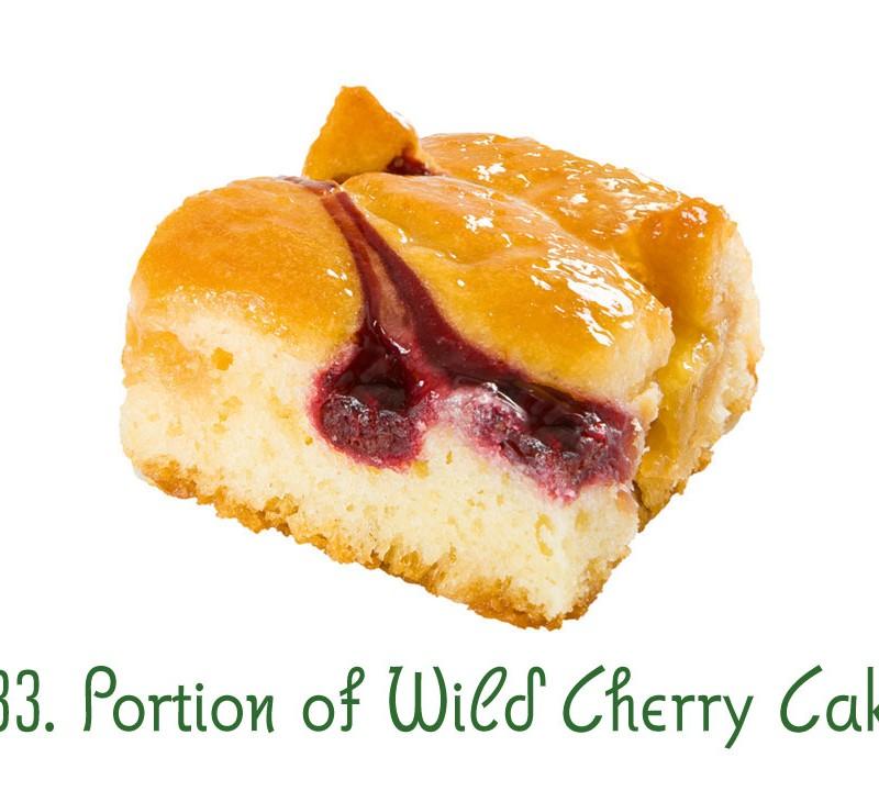 133. Portion of Wild Cherry Cake