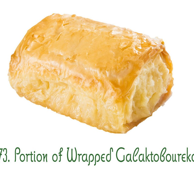73. Portion of Wrapped Galaktoboureko