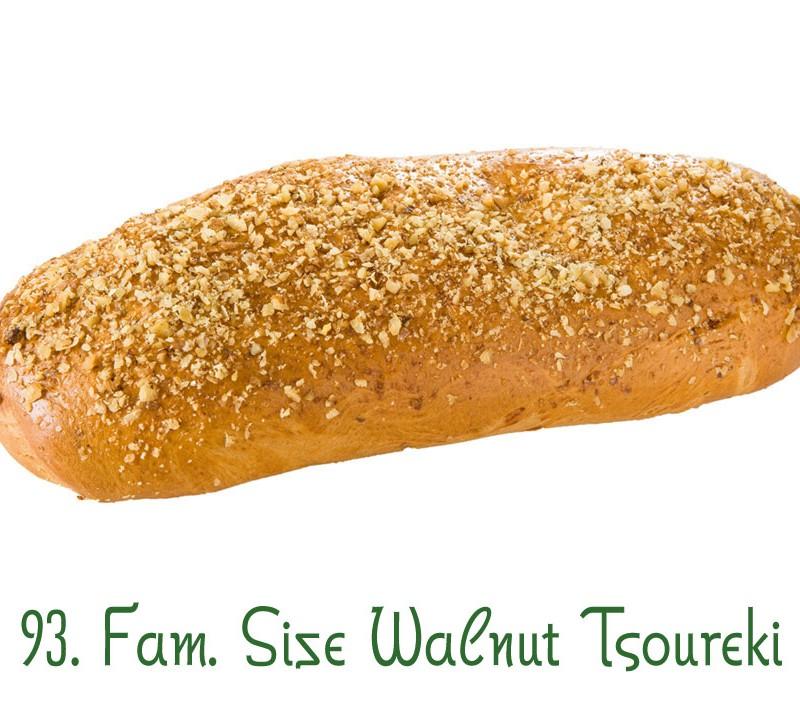 93. Family Size Walnut Tsoureki