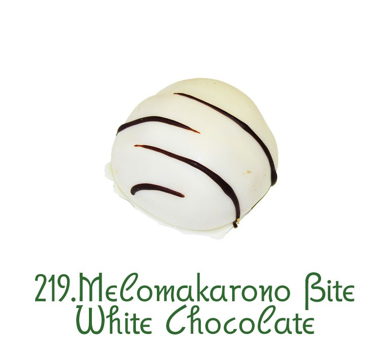 219 Melomakarono Small bite White Chocolate